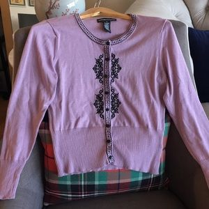 Cute light purple cardigan, size M
